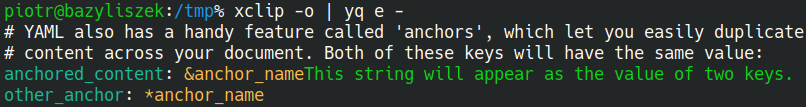 Wyciąganie danych z YAML-a za pomocą yq